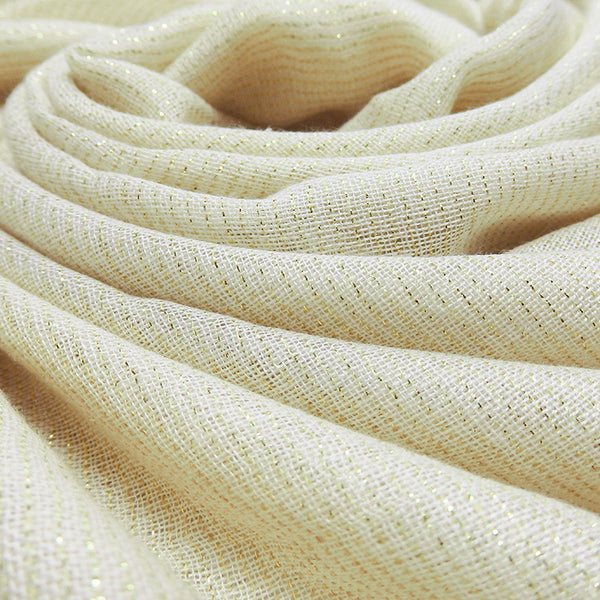 Plain Lurex Large Scarf