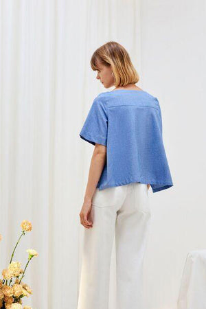 KOWTOW Tidal Top in Chambray