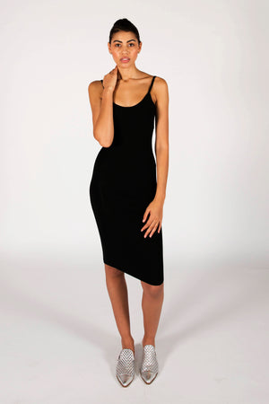 The Laura Midi Dress- Black