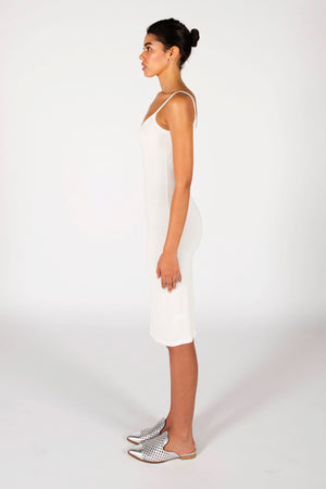 The Laura Midi Dress- Ivory