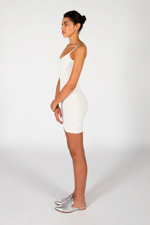 The Laura Mini Dress- Ivory