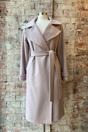 LISA TARANTO Tess Coat in Blush