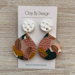 CLAY BY DESIGN Large Dangles - Clay