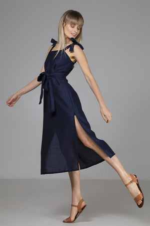 INDECISIVE Kimmy Dress in Navy