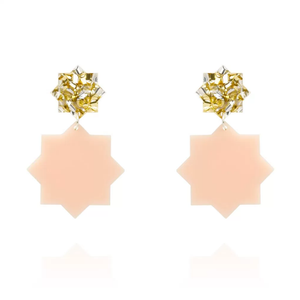 Stardust Earrings- Gold/Blush