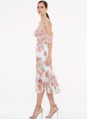 The Darcy Off Shoulder Midi Dress