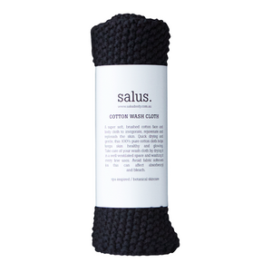 SALUS Cotton Wash Cloth in Black