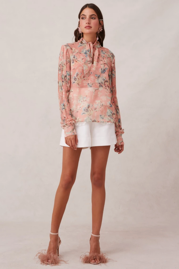 KEEPSAKE Unravel L/S Top in Peony Lily