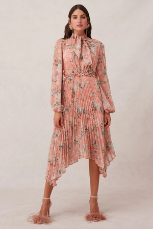 KEEPSAKE Unravel L/S Dress in Peony Lily