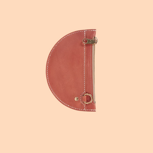 SIMETRIE XS Crescent Moon Pouch in Red Earth