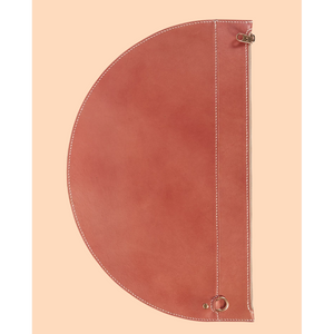 SIMETRIE XL Crescent Moon Pouch in Red Earth