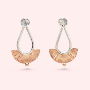 MEG WATSON JEWELLERY Juno Small in Silver + Rose Gold Plating