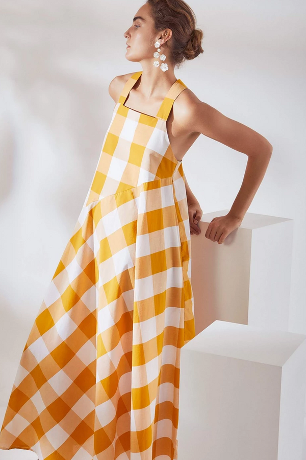 KOWTOW Riley Dress in Daisy Check