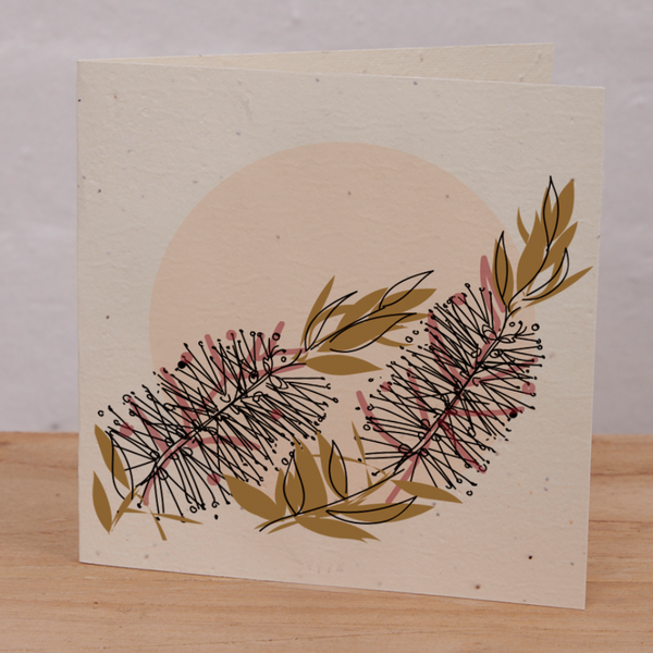 INARTISAN Plantable Card Bottlebrush