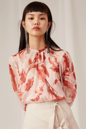 KEEPSAKE Infinite L/S Top in Porcelain Lily