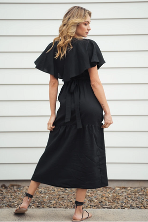 INDECISIVE Linen Chicago Dress in Black
