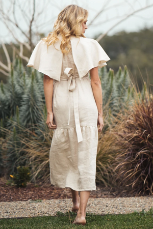 INDECISIVE Linen Chicago Dress in Sand