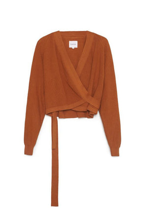 KOWTOW Composure Cardigan in Rust
