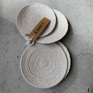 CORDE Large Woven Coasters- Set of 4