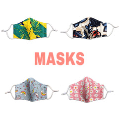 Masks - Large and Small (Adjustable Ears Loops)