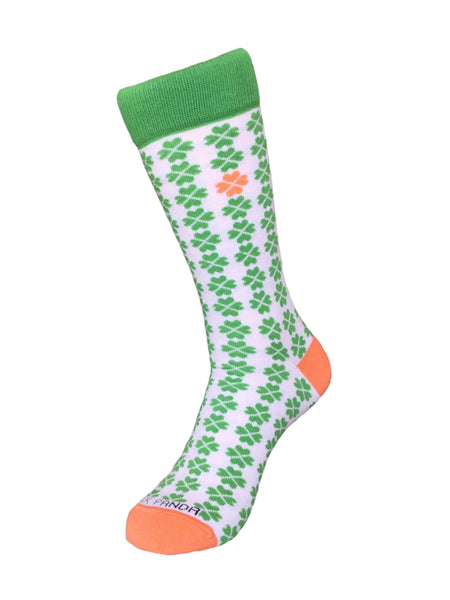 Woman Clover Pattern sock - Left Sock Panda