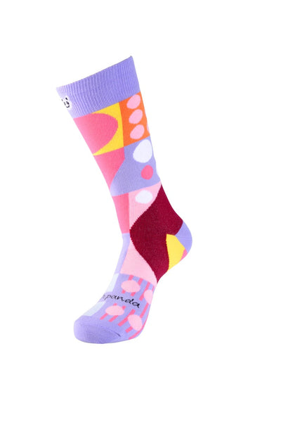 Abstract Geometric Pattern Women Left- Sock Panda