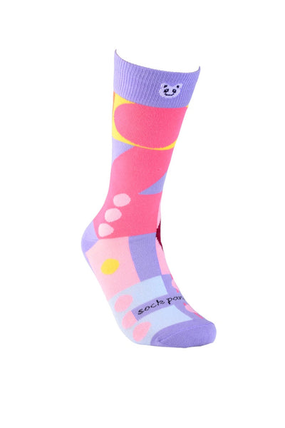 Abstract Geometric Pattern Women Lifestyle Right - Sock Panda