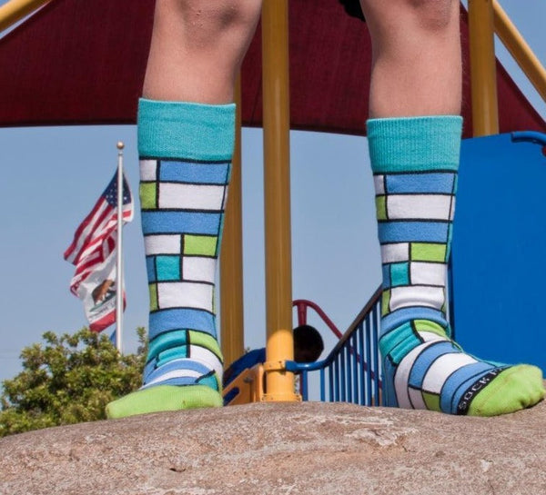 Colorful Block Sock Lifestyle Tween - Sock Panda