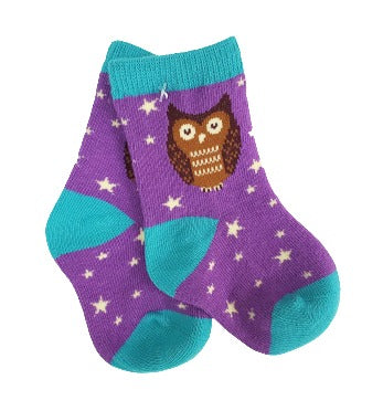 Happy Owl Socks for Infants Sock Panda