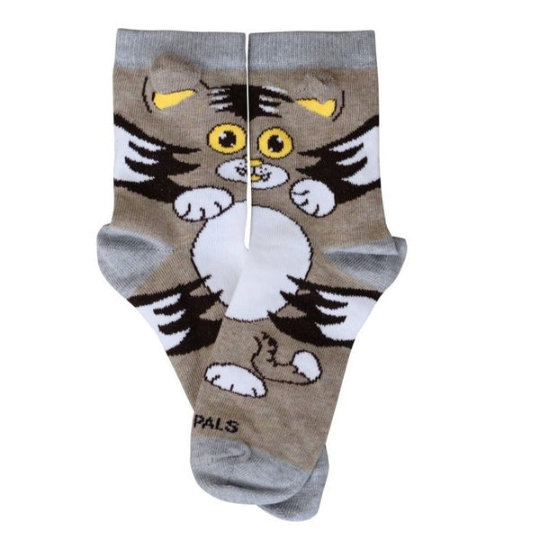 Kid Kitty Cat Flat - Sock Panda