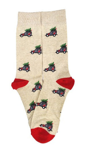 Christmas Tree on Jeeps Crew Socks - Sock Panda