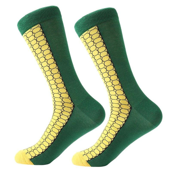 Corn of the Cob Socks from the Sock Panda Both