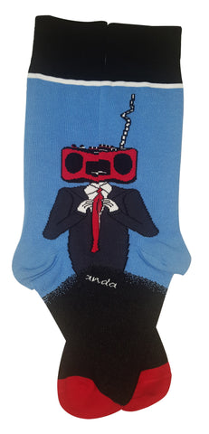 Radio Head Flat - Sock Panda