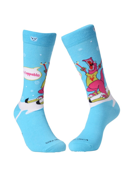 Unstoppable Dino - Both - Sock Panda