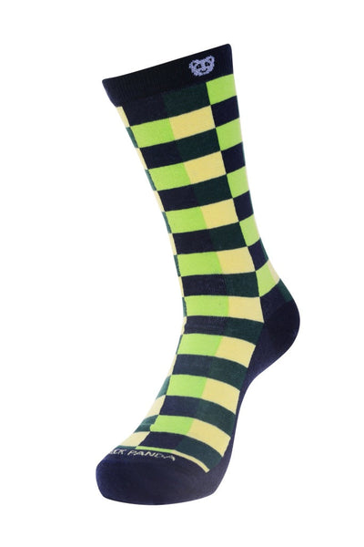 Checkered green Left - Sock Panda