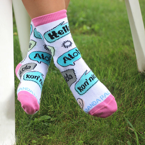 Hello Sock Kids Girls - Sock Panda