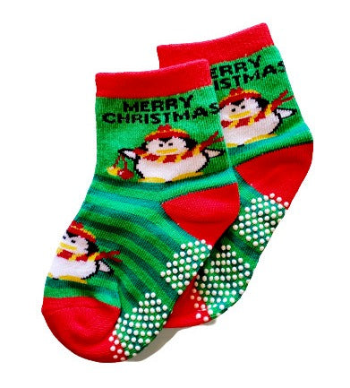 Merry Christmas Penguin Sock - Sock Panda