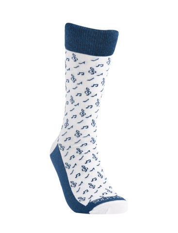Music Note Pattern Large Right - Sock Panda