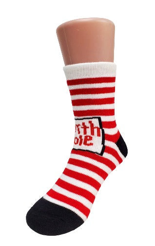 North Pole Striped Kids Socks - Sock Panda