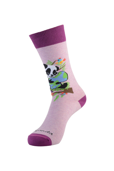Panda Hugging Small Left - Sock Panda