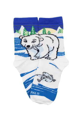 Frost the Polar Bear Flat - Sock Panda