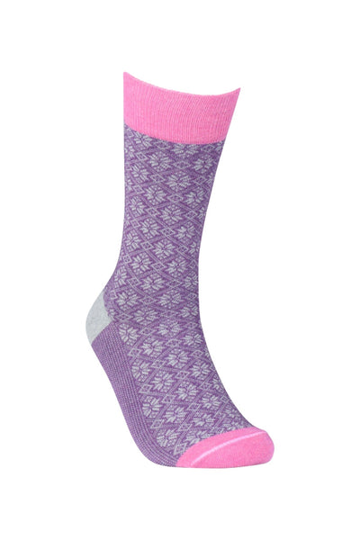 Purple Snowflake Right - Sock Panda