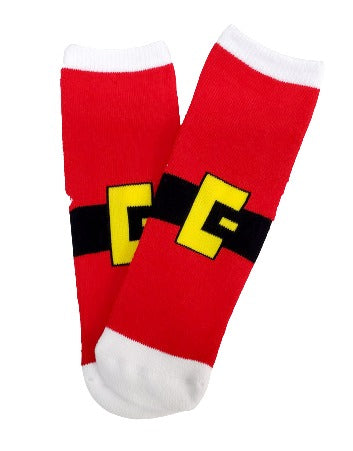 Santa's Belt Sock for Kids - Sock Panda