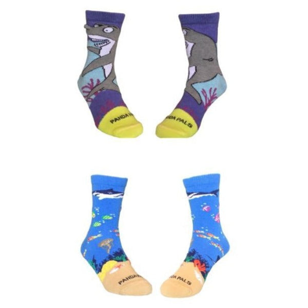 Two Pairs Shark Socks - Sock Panda