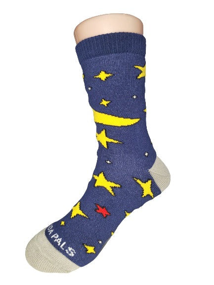 Starry Night Kids Sock Left - Sock Panda