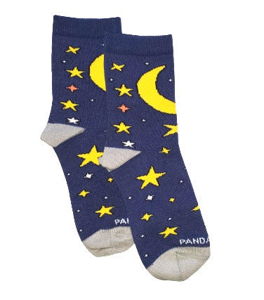 Starry Night Kids Sock Flat side - Sock Panda