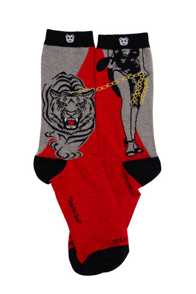 Tiger on a Leash Flat - Sock Panda