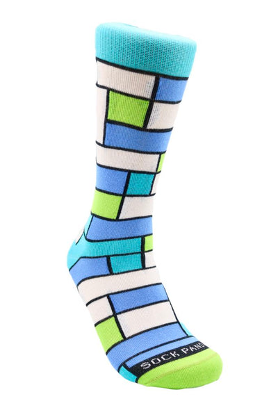 Tween Colorful Block Pattern Right - Sock Pattern