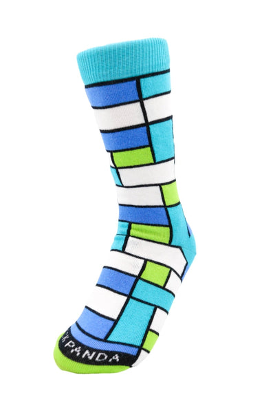 Tween Colorful Block Pattern Left - Sock Pattern