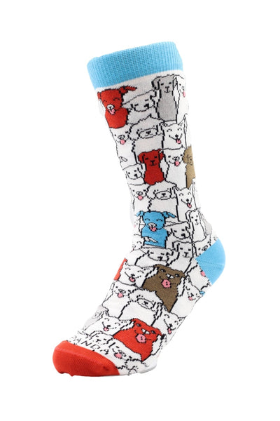 Tween Dog Pattern Right - Sock Panda